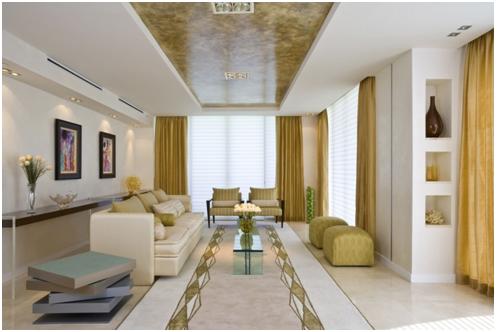 Фото ковра в светлой гостиной