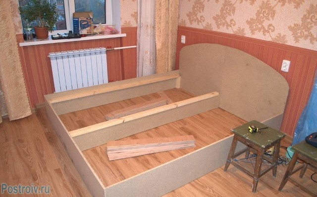 Двуспальная кровать своими руками чертежи фото