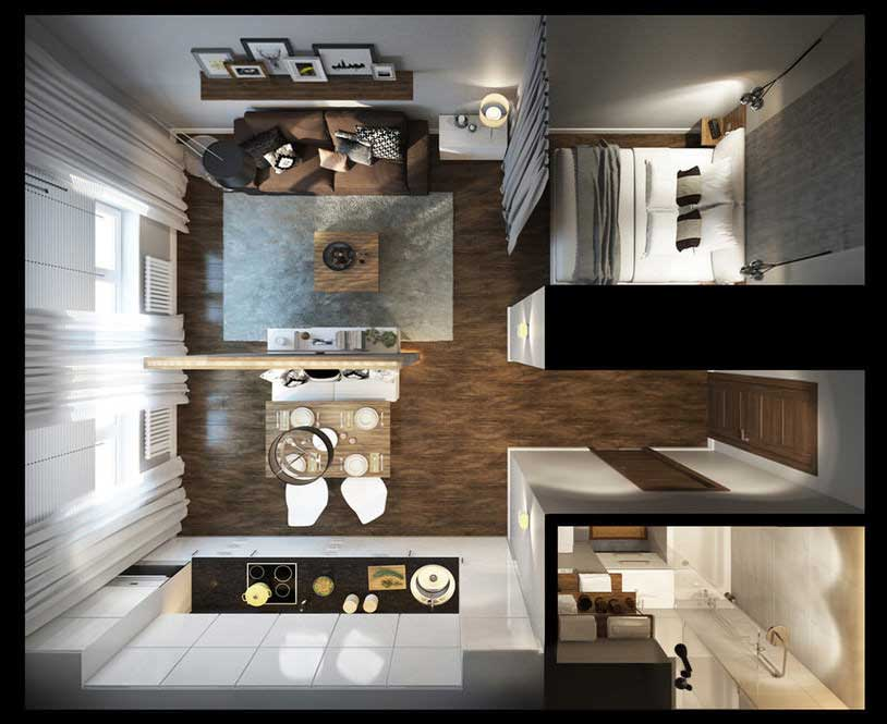 Дизайн проекты студии 30 кв м