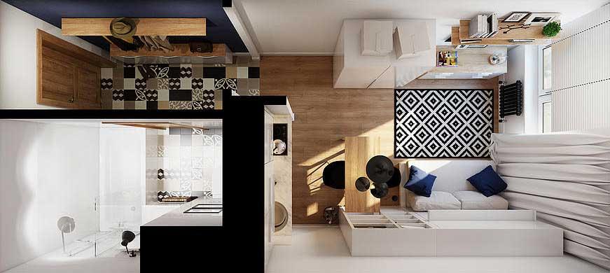 Дизайн квартир 17 м кв