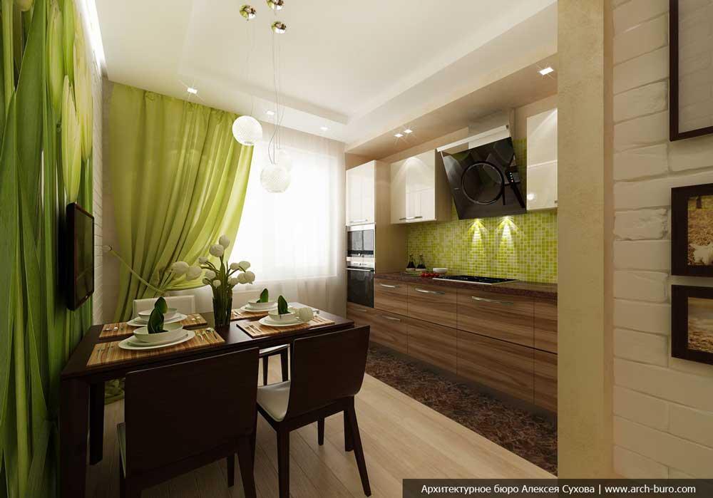 Дизайн кухни площадью 12 кв. м