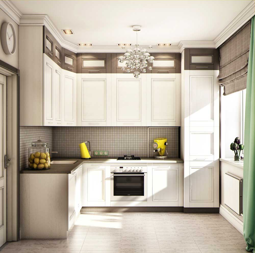 Угловые кухни 9 кв.м дизайн фото