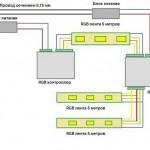схемы питания светодиодных лент 2