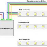как подключить светодиодную ленту 12 вольт схема