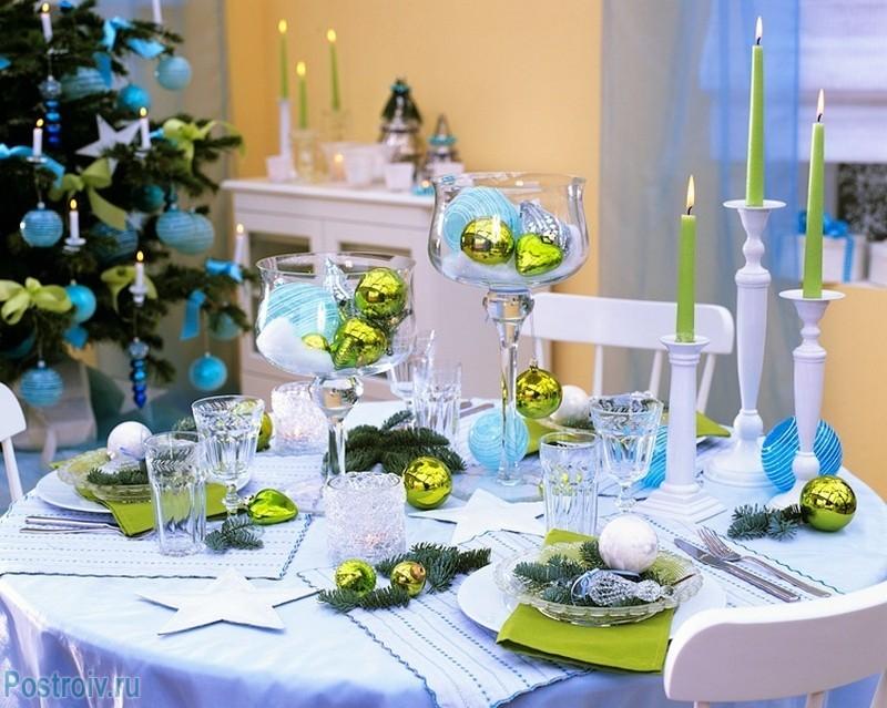 новогодний декор на столе