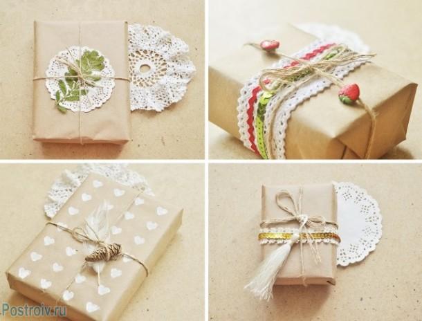 Упаковка подарков на новый год своими руками. Фото