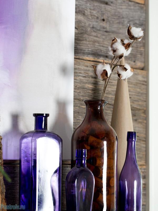 лиловый декор на новый год