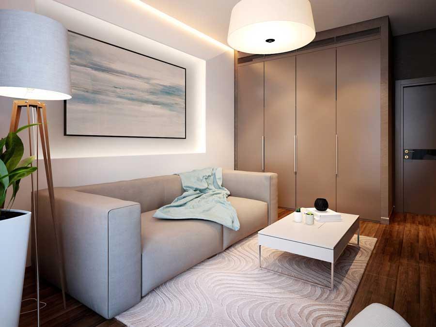 Дизайн мужской комнаты 12 кв.м