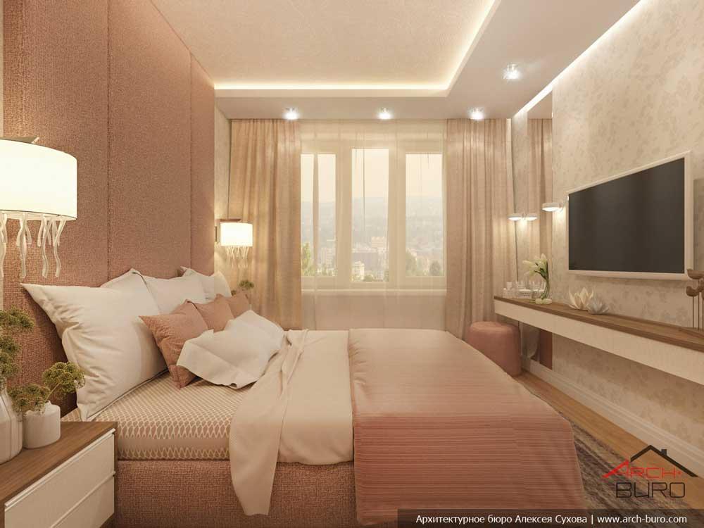 Дизайн спальни 11 кв. м. фото розовой спальни 11 метров.