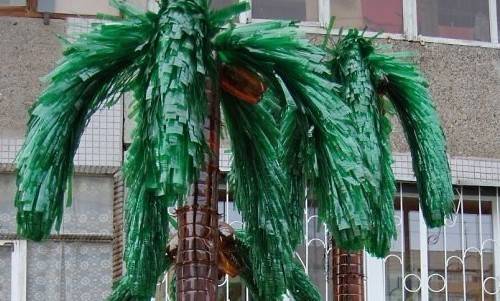 Пальма из бутылок пластмассовых с пошаговым фото