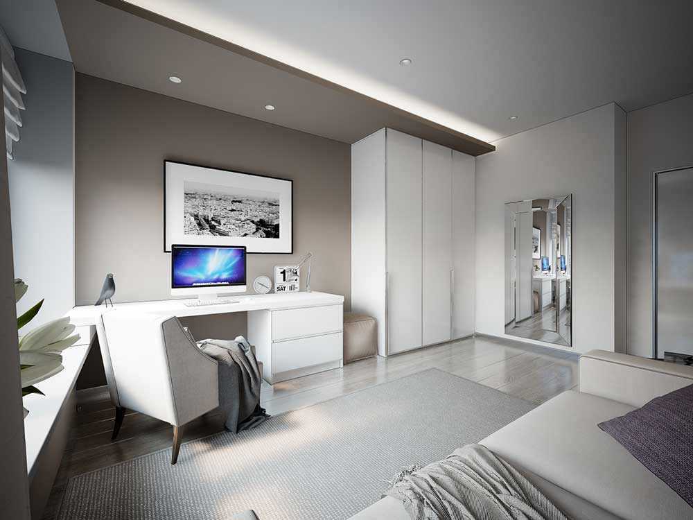 Дизайн проект комнаты 14 кв.м фото