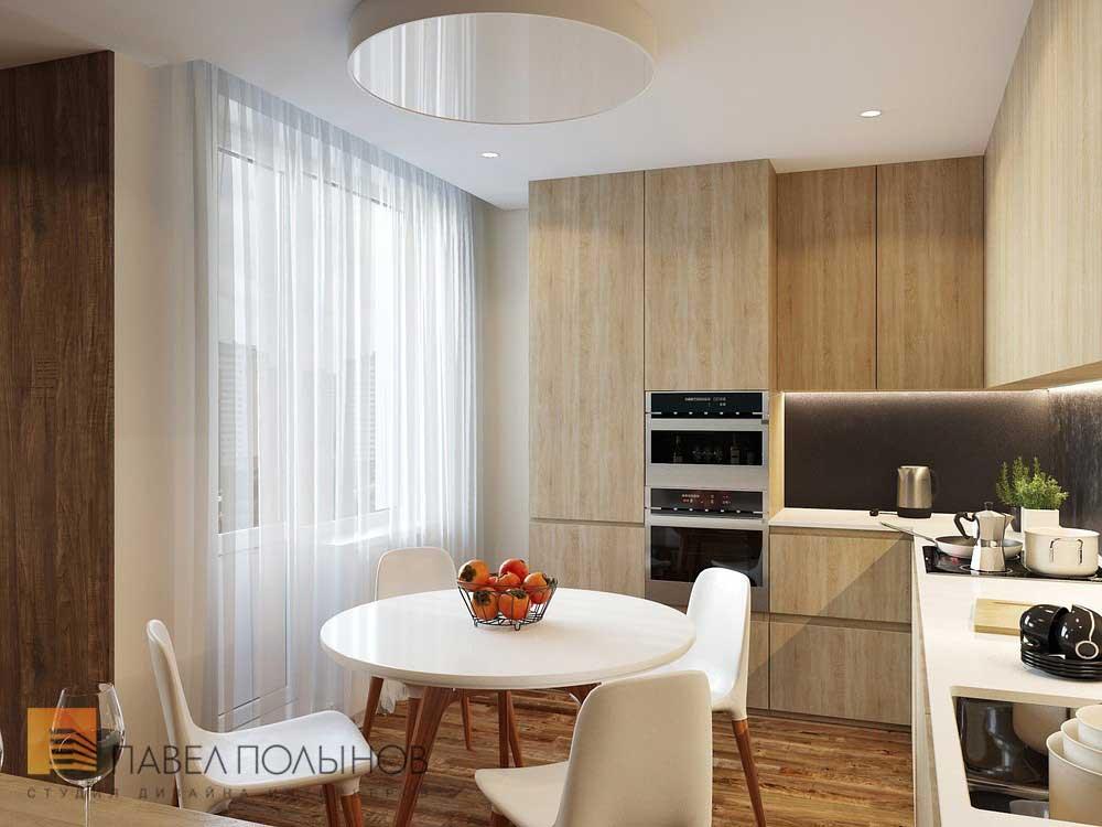 Прямоугольная гостиная с кухней дизайн фото