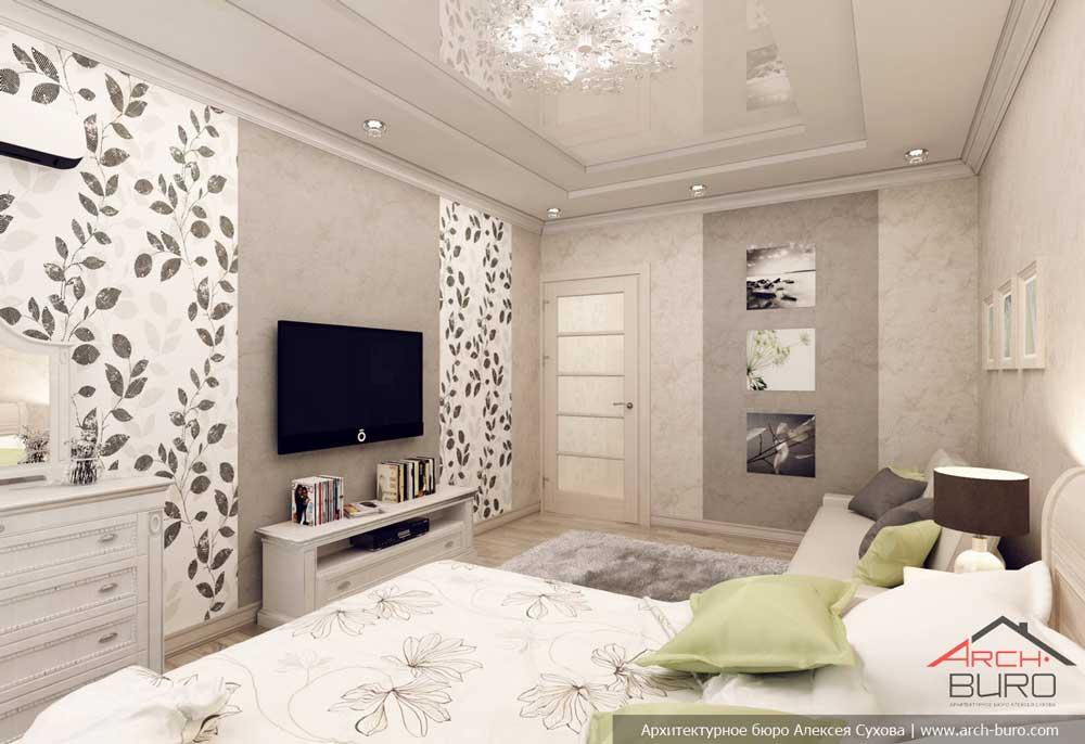 Дизайн спальни-гостиной 12 метров