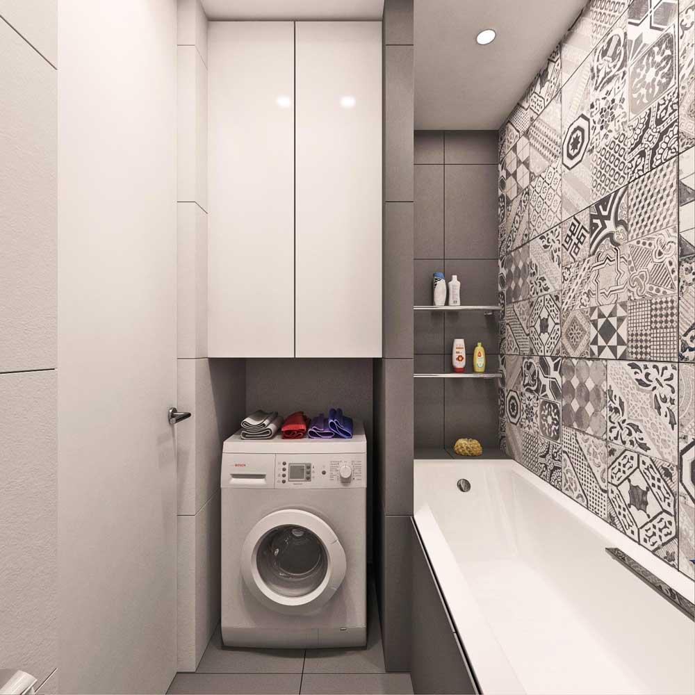 Дизайн ванны 4 кв.м со стиральной машиной и туалетом