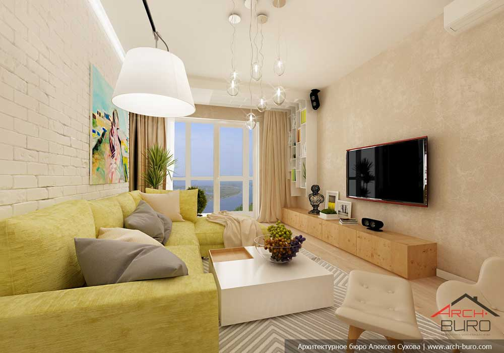 Интерьер гостиной в современном стиле 20 кв.м фото с угловым диваном