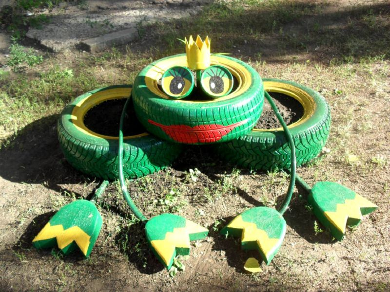 как сделать пальму из шины пошаговая инструкция - фото 11