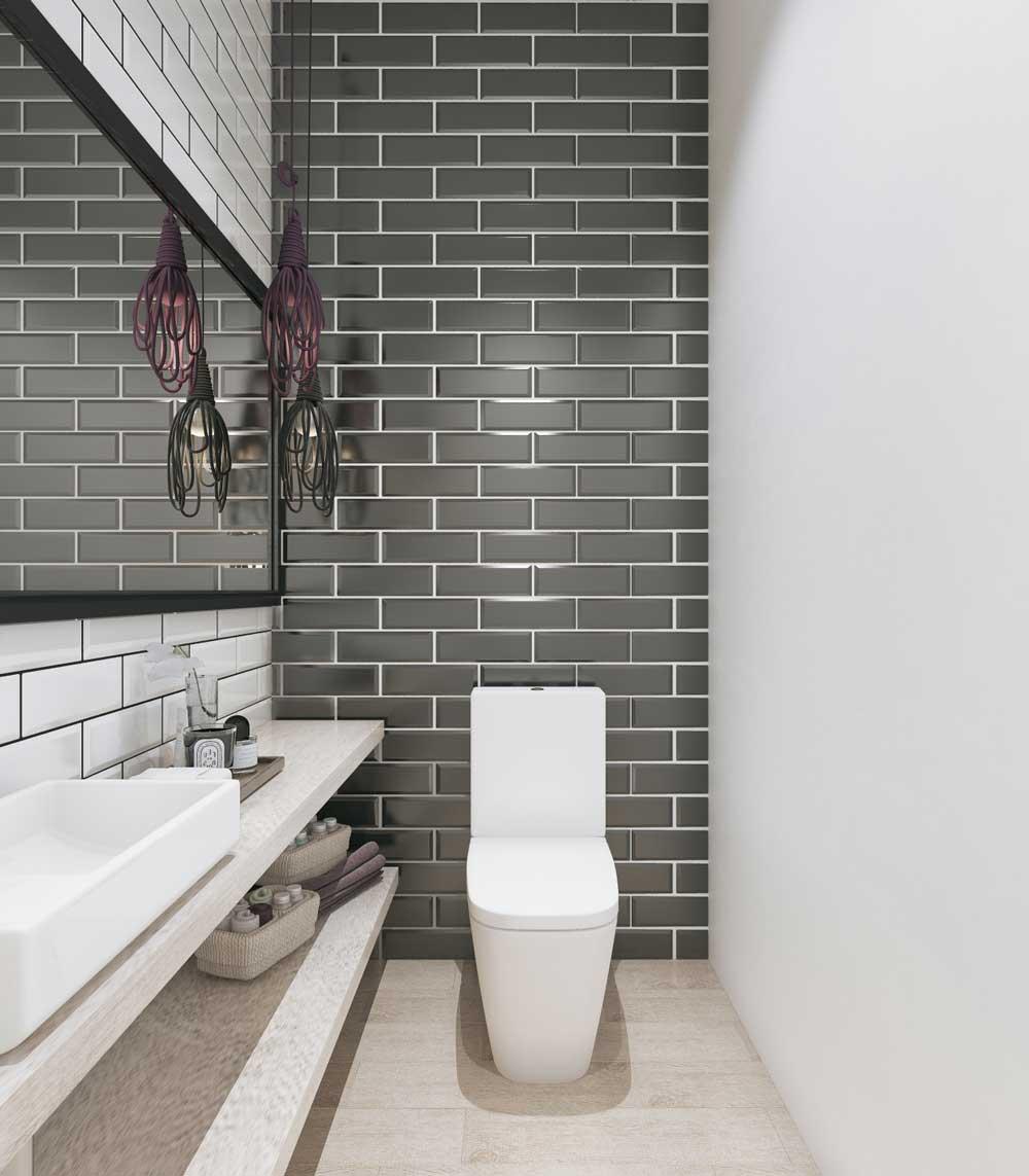 Туалет дизайн фото черно белый