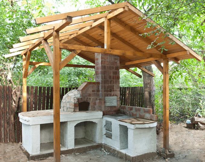 Как своими руками сделать летнюю кухню на даче своими руками