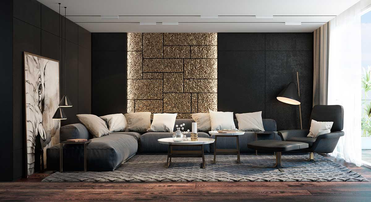 black-living-room-accent-colors