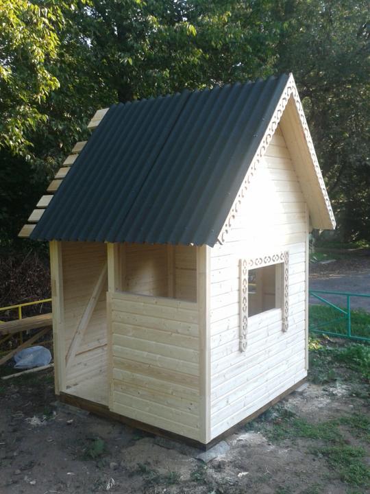 Детский деревянный домик своими руками как сделать домик на