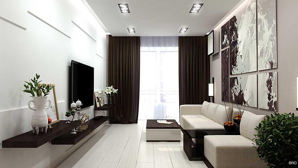 Дизайн комнаты гостиной 16 кв.м
