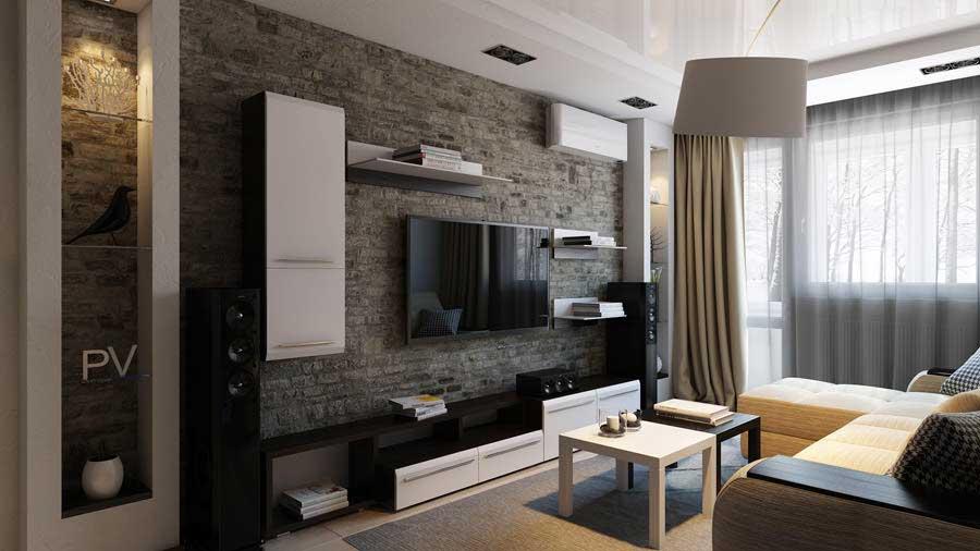 интерьер зала 16 кв м в квартире фото