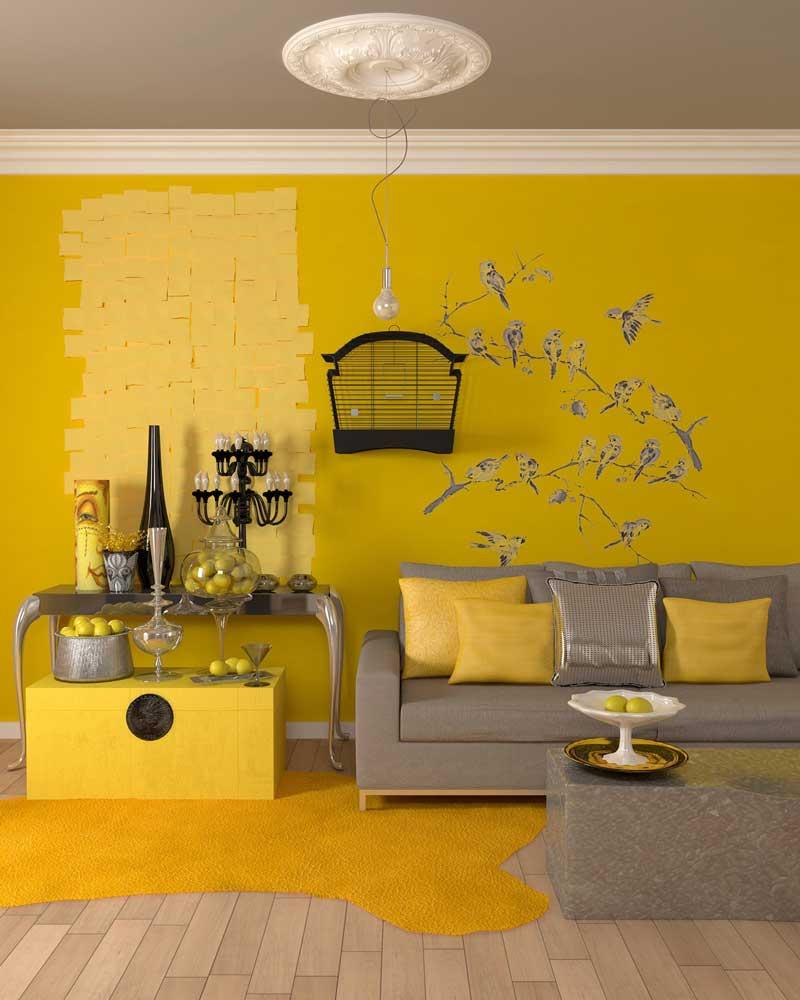 Как сделать горчичный цвет для покраски стен