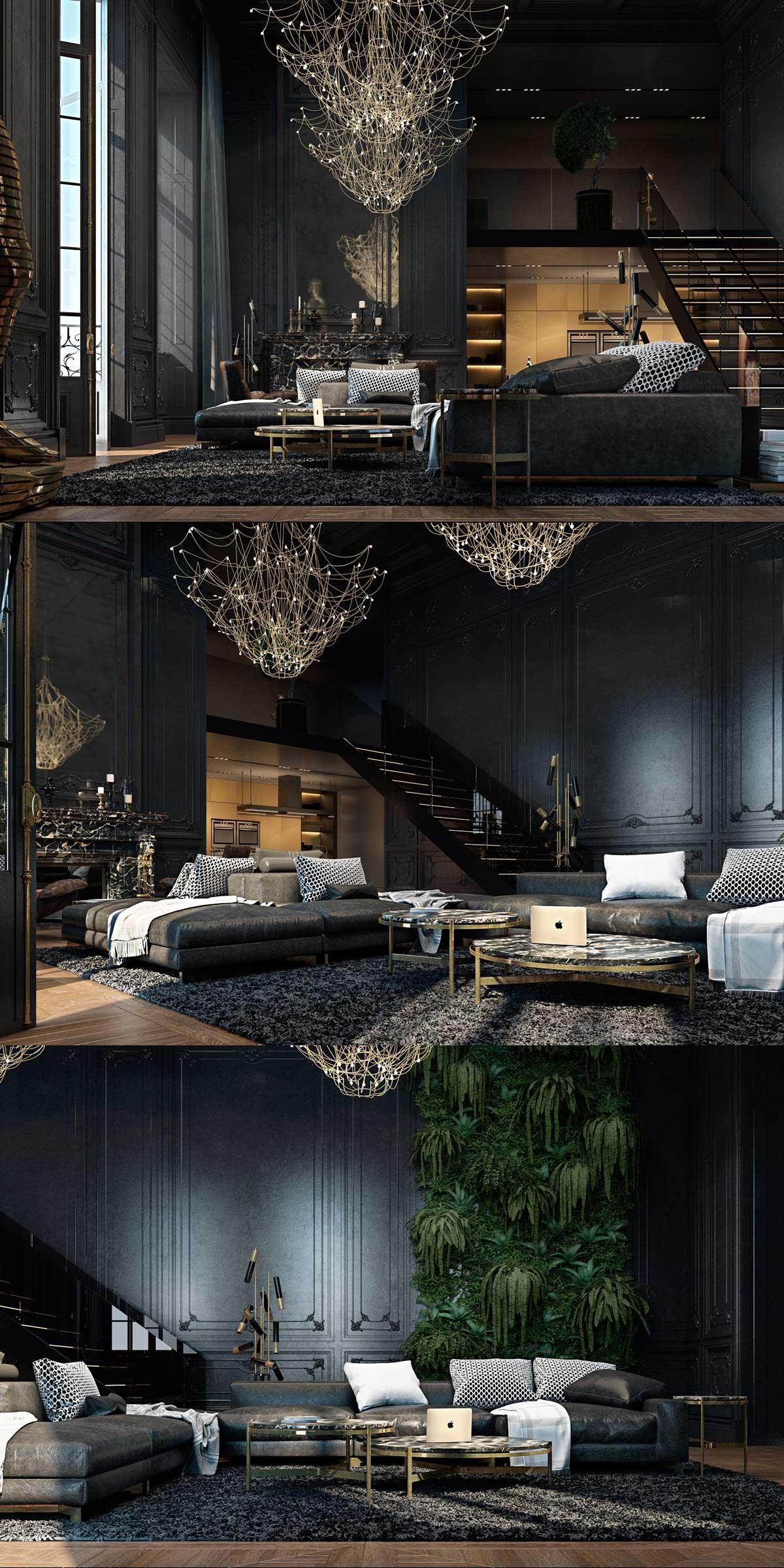 luxurious-matte-black-interior