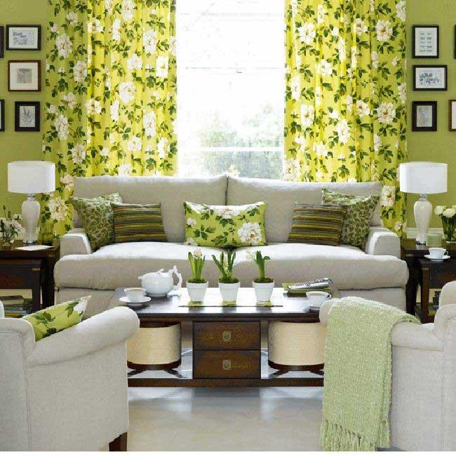Желтое и зеленое в интерьере