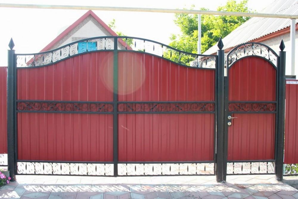 Ворота из профиля как сделать