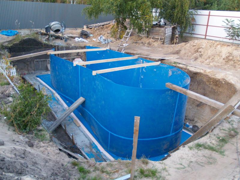 Výsledek obrázku pro бассейн своими руками