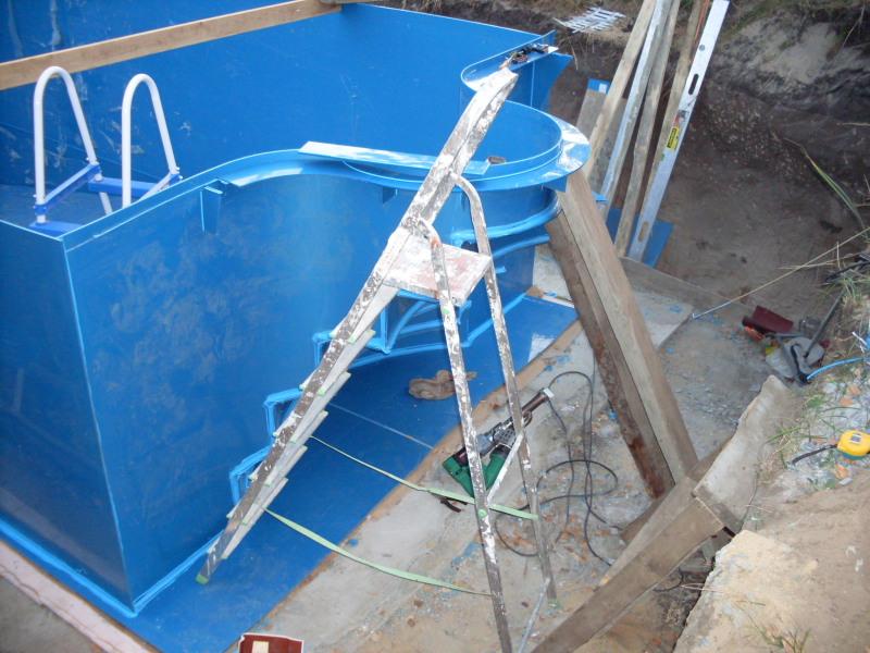 Лестница для бассейна своими руками из пластиковой трубы 38
