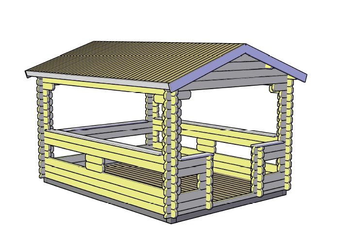 Односкатная крыша для беседки своими руками чертежи фото 228