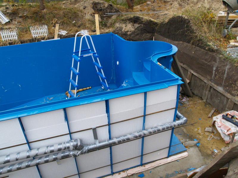 Лестница для бассейна из пластиковых труб своими руками 179