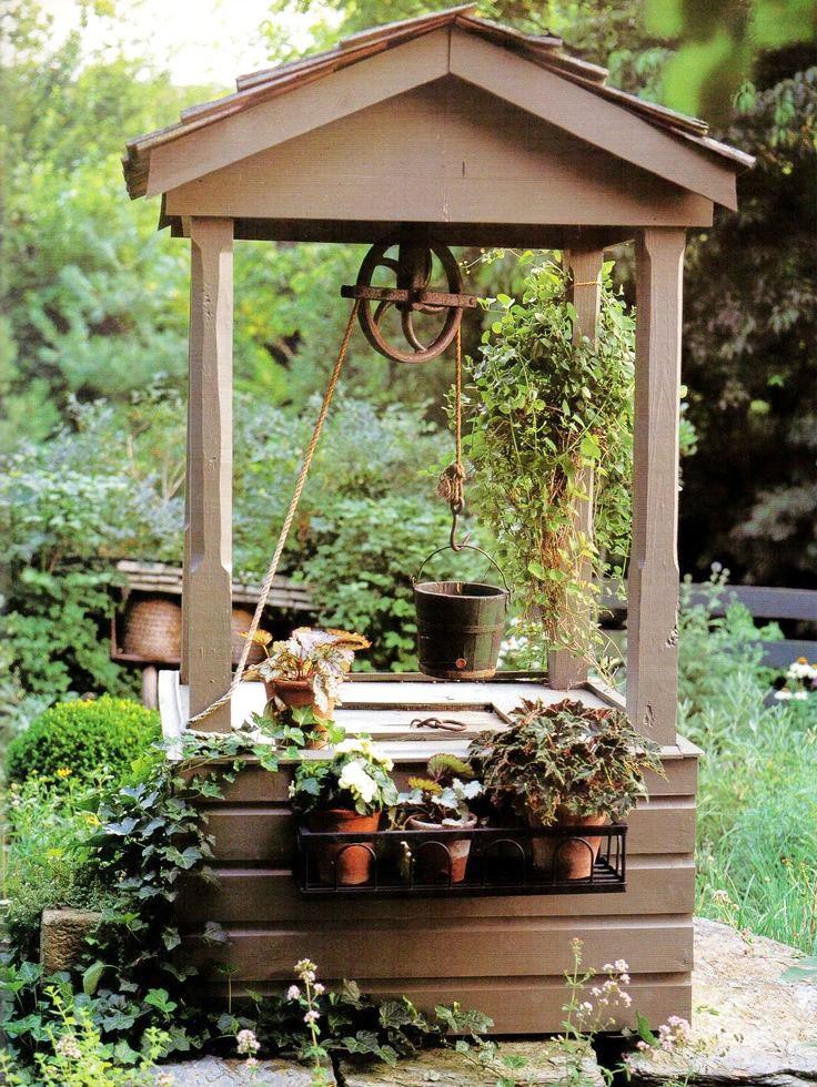 Декоративные колодцы на даче своими руками фото 53