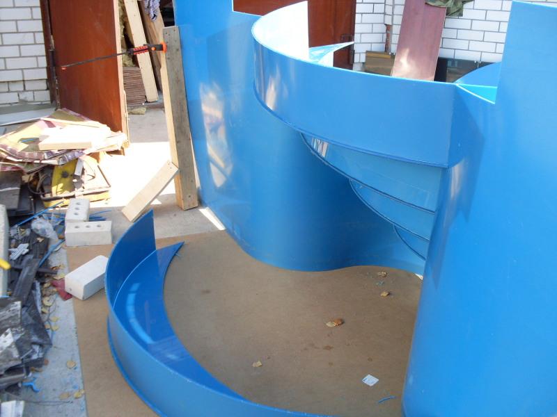 Лестница для бассейна из пластиковых труб своими руками 128