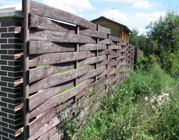 Забор плетенка своими руками фото