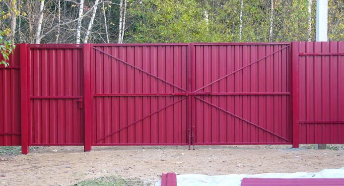 Ворота 6 метров распашные своими руками