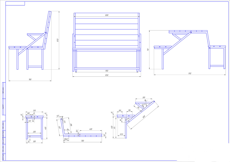 Дача скамейки и столы своими руками чертежи 357