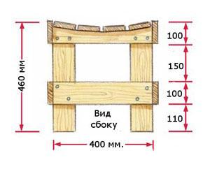 Как сделать лавочку из дерева чертежи простые