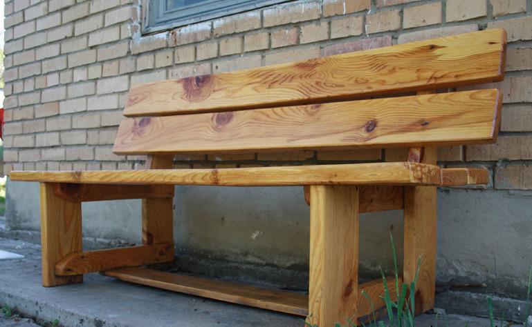 Лавки деревянные сделать своими руками