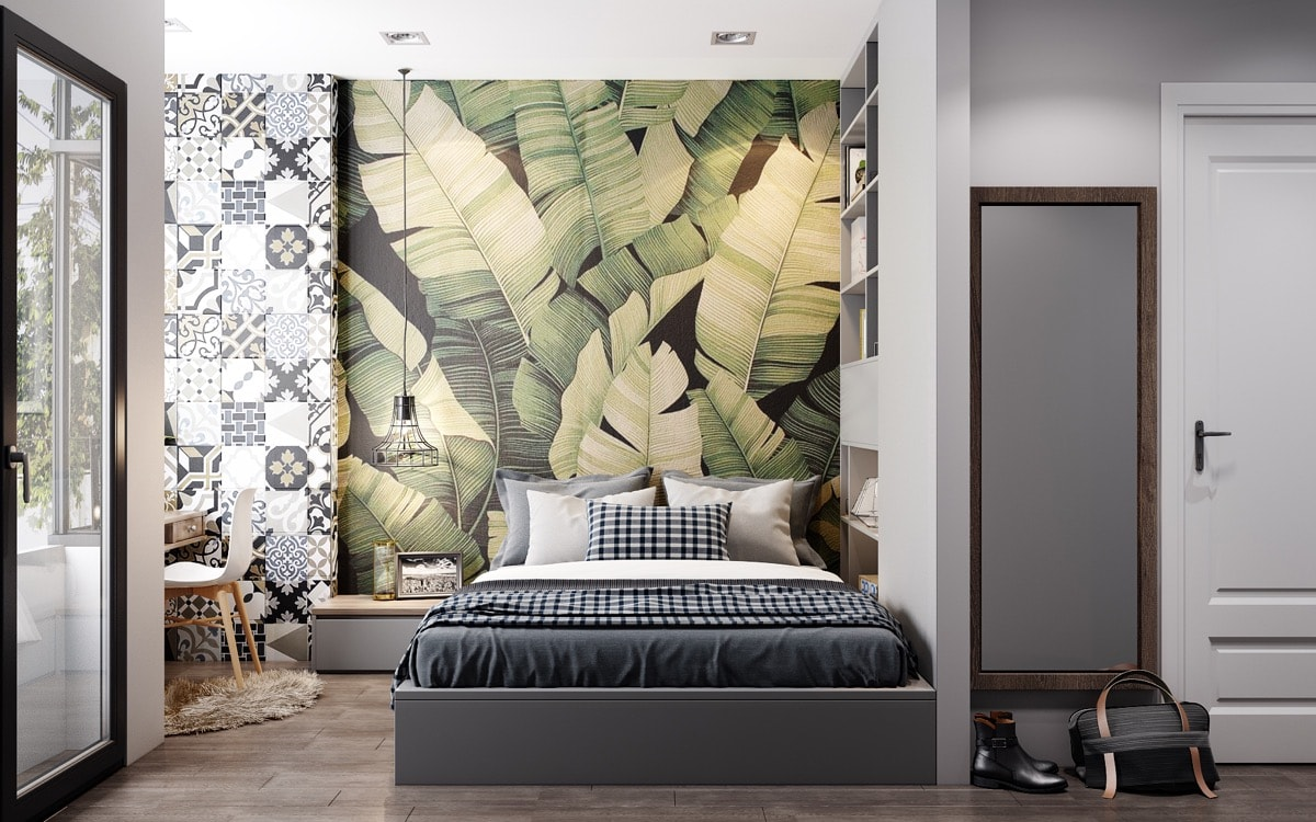 leaf-tropical-bedroom-wallpaper-accent-wall-min