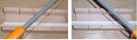 как резать потолочный плинтус. как сделать угол