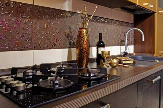 Дизайнерская плитка для фартука на кухне