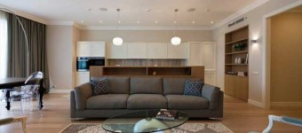Зона отдыха в современной гостиной