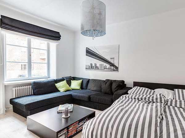 Спальня в стиле холостяк