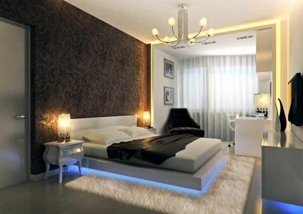 Оформление спальни в стиле мачо