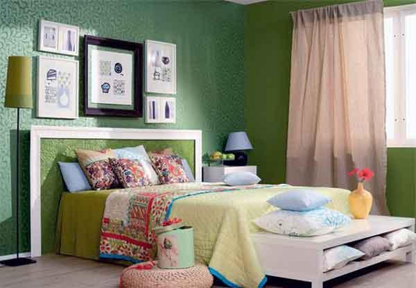 Оформление спальни в стиле весна