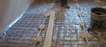 Выравнивание пола при помощи бетонной стяжки своими руками