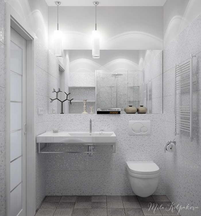 Дизайн совмещенного санузла с ванной с подвесной роковиной
